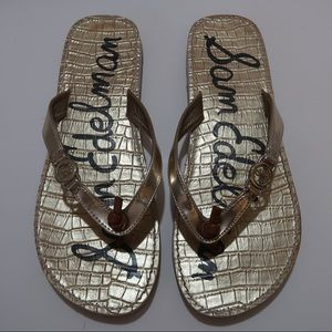 Sam Edelman Gold Flip flops Sandals